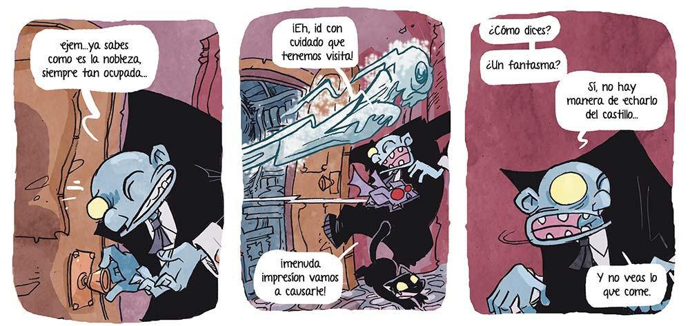 Fantasmas y monstruos en VAMPI CUENTAME UN CUENTO, el nuevo cómic de Jose Fonollosa