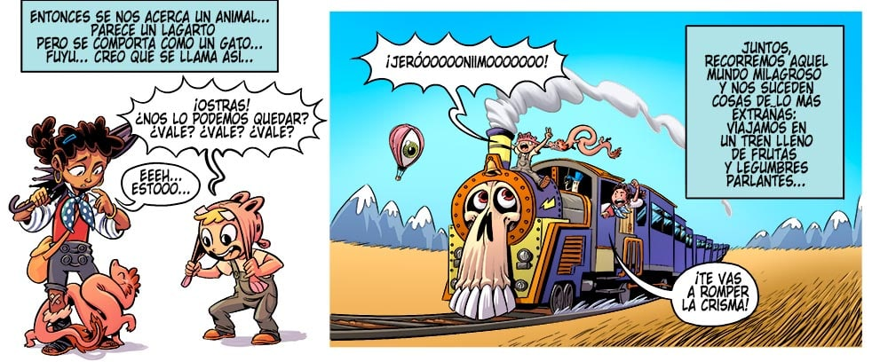 Viaje a xambala es un comic de aventuras infantil que funciona a todo tren