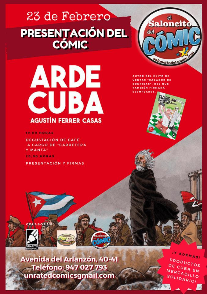 CARTEL ARDE CUBA SALONCITO DEL COMIC