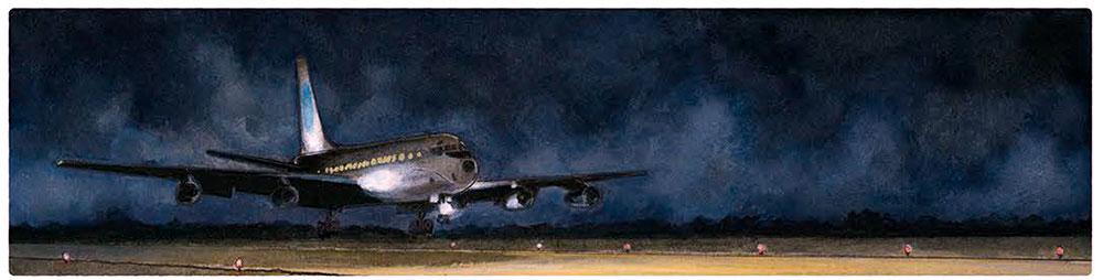 Aeropuerto dibujado por Agustín Ferrer Casas en su cómic Mies pdf gratis descarga