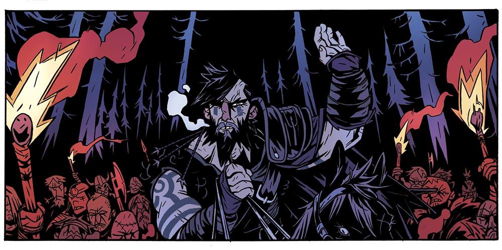 Aarek el lobo, lider vikingo en el cómic EL REY ARAÑA de GRAFITO EDITORIAL