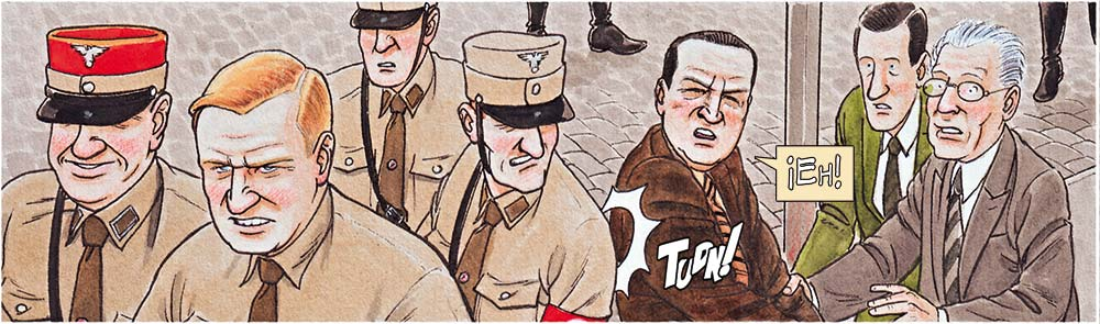 Cómic sobre Ludwig Mies van der Rohe, dibujado por Agustín Ferrer. Una novela gráfica sobre arquitectura publicada por Grafito Editorial