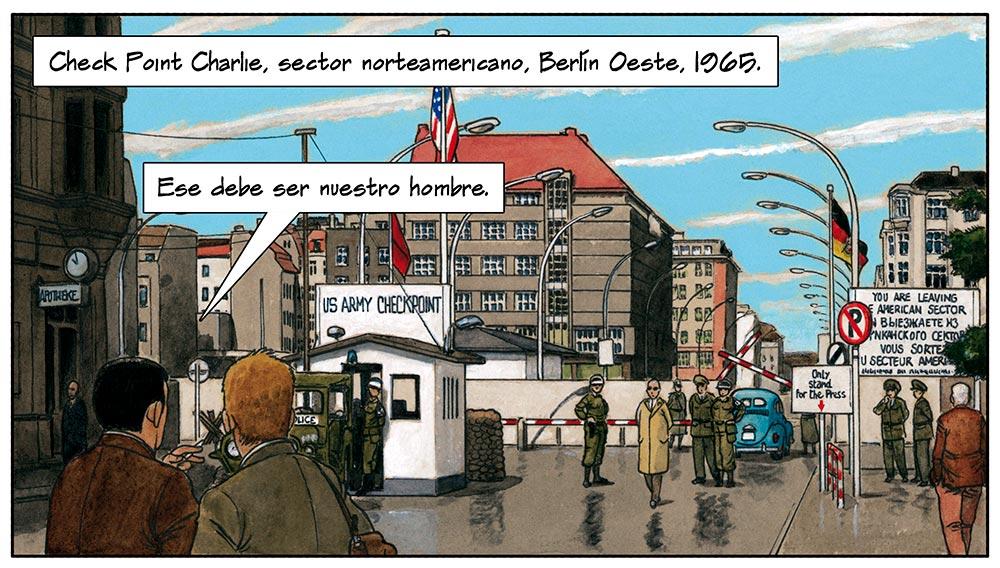 Cómic sobre Mies van der Rohe dibujado por Agustín Ferrer Casas