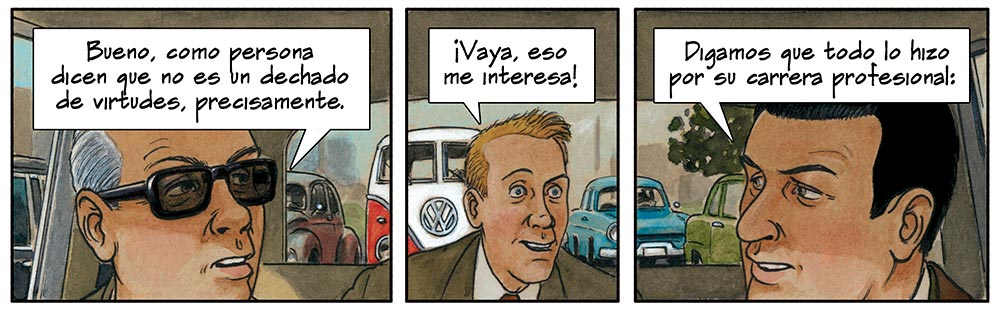 Cómic sobre Mies van der Rohe dibujado por Agustín Ferrer Casas. Historia y arquitectura