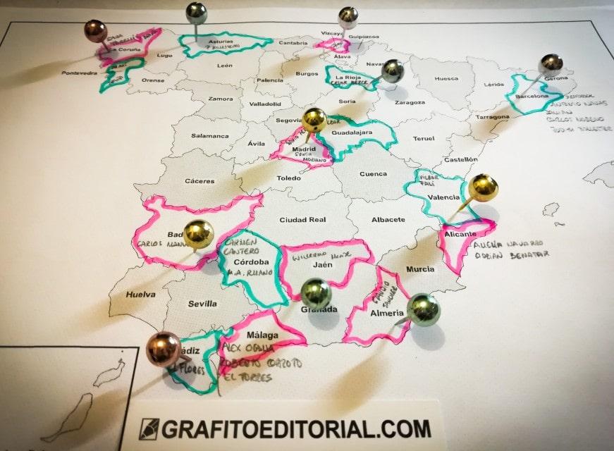 presentaciones del cómic Viaje a Xambala a lo largo de toda España